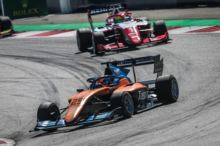 Aussies Alex Peroni and Oscar Piastri in action on the Red Bull Ring
